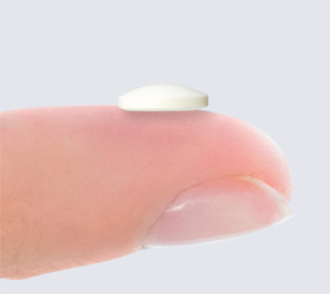 Step 2 - Sitavig tablet on tip of finger